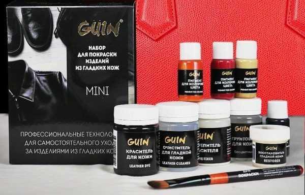 Краски для кожи Guin