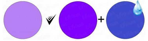 Получение лавандового цвета