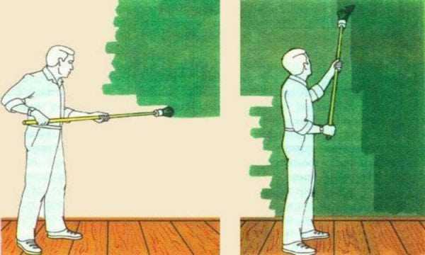 Как правильно красить стены кистью
