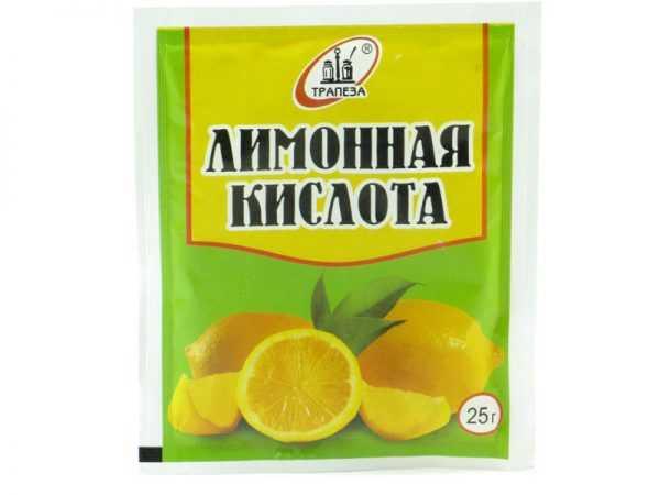 Неплохие результаты дает лимонная кислота