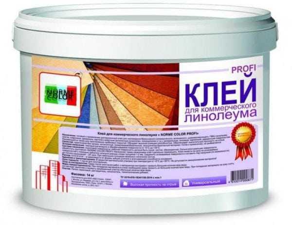Профессиональный состав для приклеивания линолеума на бетон