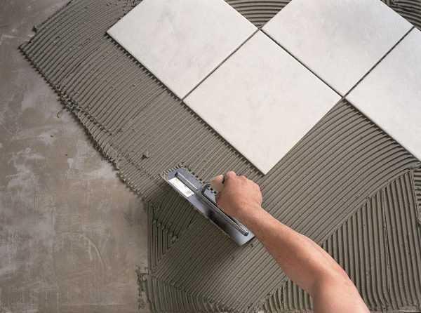 Монтаж керамической плитки на клей EC 3000