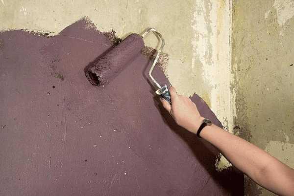 Нанесение краски на стены