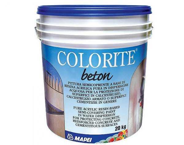 Краска фирмы Mapei для покрытий из бетона
