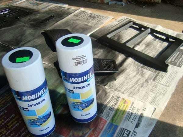 Материалы для ремонта и окраски пластика