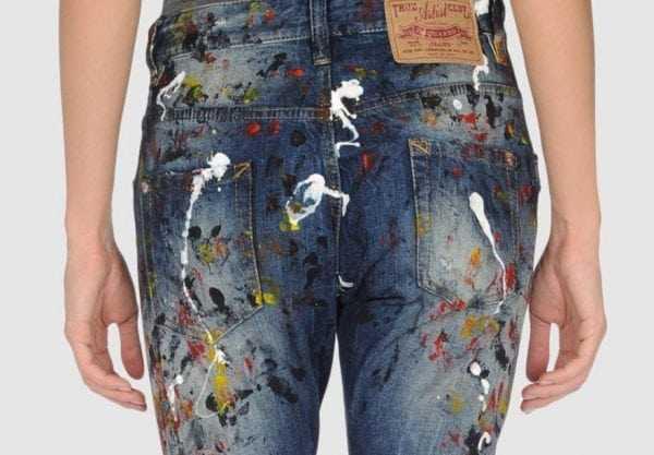 Очистка джинс от краски