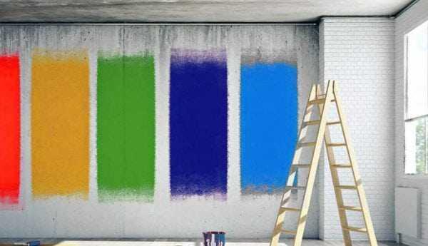 Краски на бетонной поверхности