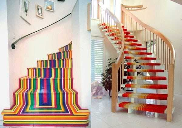 Лестницы вскрытые краской