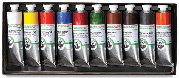 Краски масляные в тюбиках
