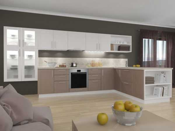 Цвет часто используется для оформления кухонной мебели