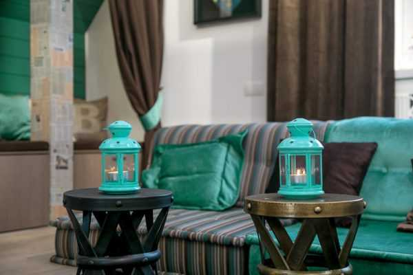 Лампы бирюзового цвета