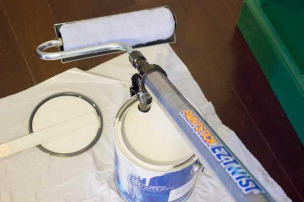 Малярный валик с поршневой системой подачи краски