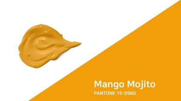 Желто-оранжевый Mango Mojito