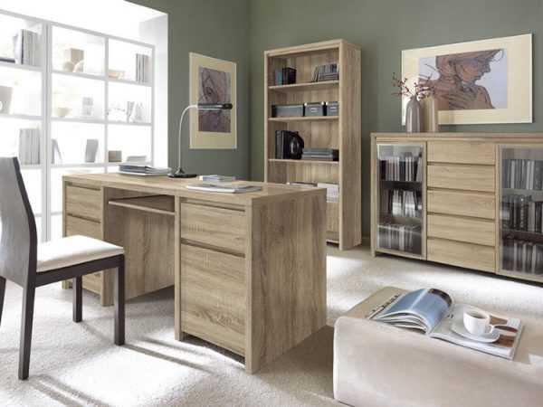 Мебель цвета сонома в кабинете