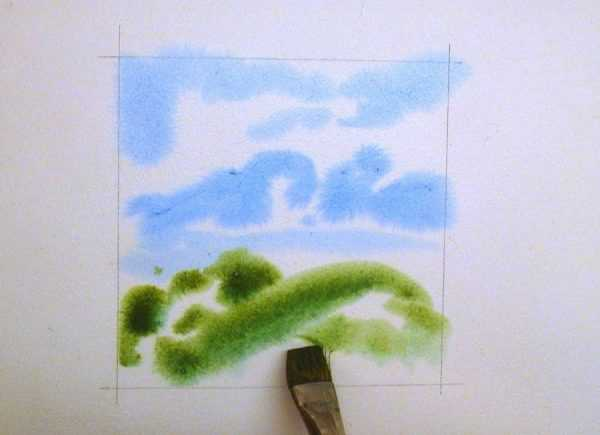 Мокрая техника рисования акварелью