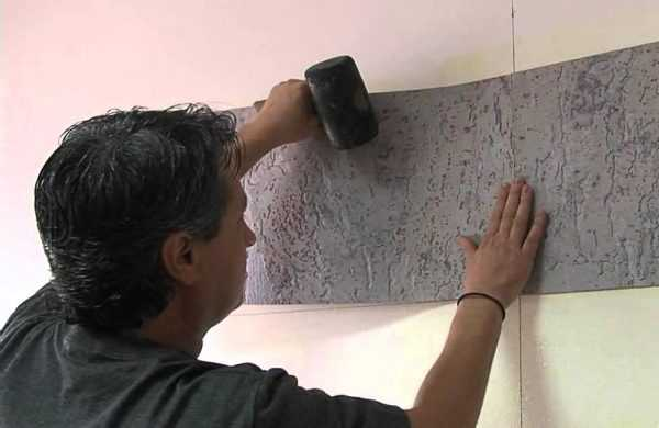 Монтаж покрытия из пробки на стену
