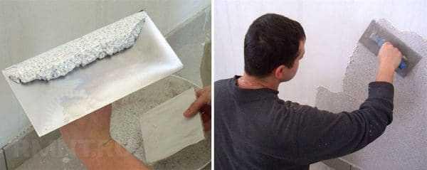 Ручной способ нанесения штукатурки