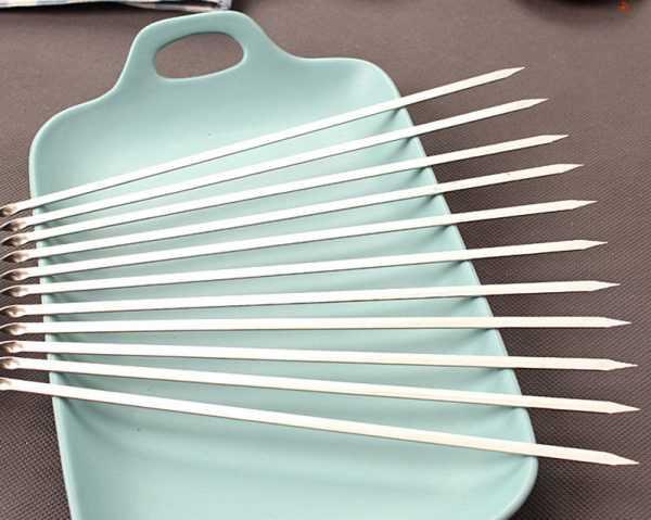 Набор плоских шампуров для шашлыка