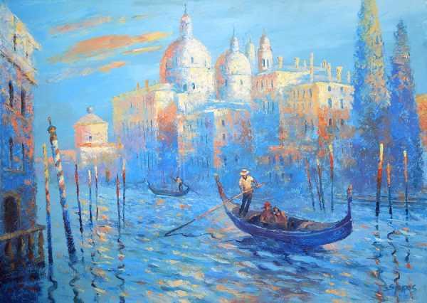 Небесно-голубой цвет в живописи