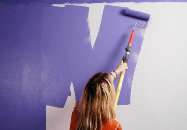 Неравномерная прокраска стены