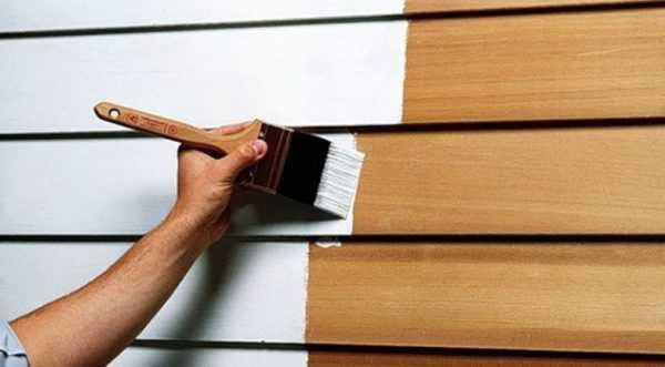Обработка деревянной поверхности резиновой краской