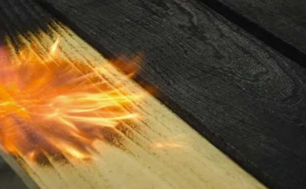 Структурные изменения древесины под воздействием обжига