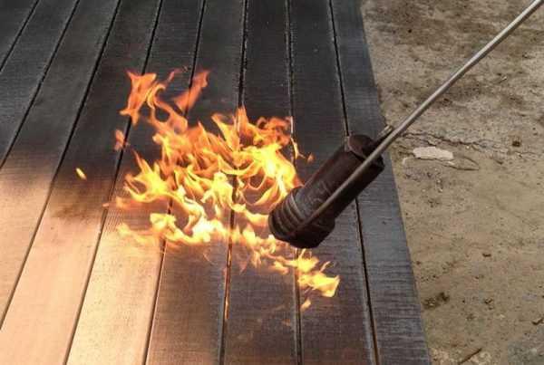 Пиломатериал обоженный огнем