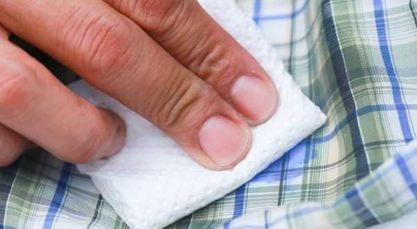 Очистка клея с одежды