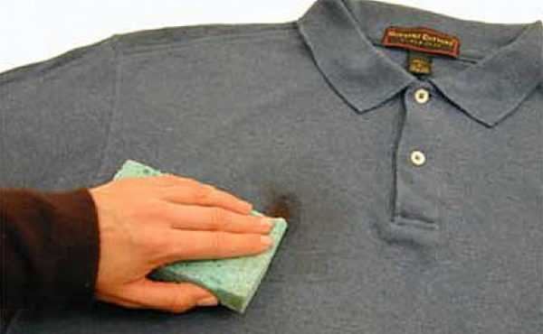 Очистка одежды от ржавых пятен