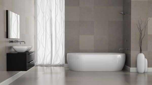 Оформление ванной в серых тонах