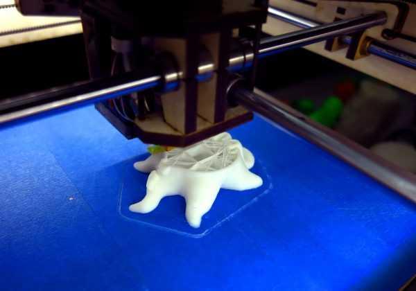 Печать 3D модели из полиморфного пластика