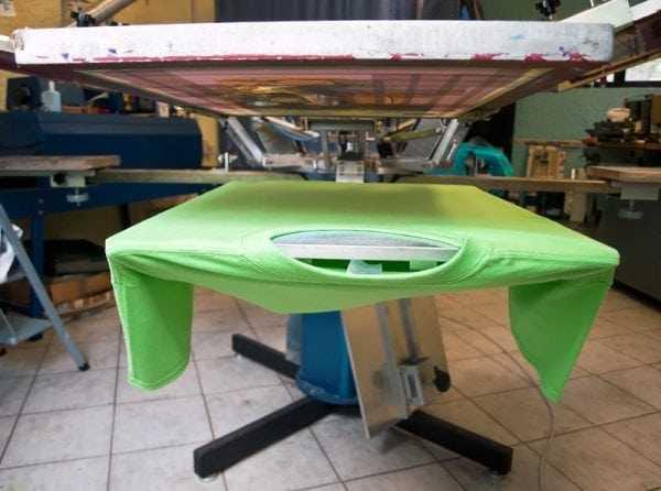 Краски УФ-отверждения широко используются в шелкографии