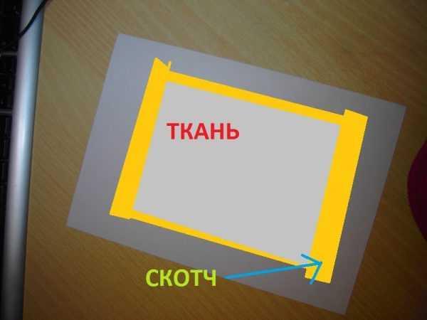 Печать рисунка на ткани на лазерном принтере