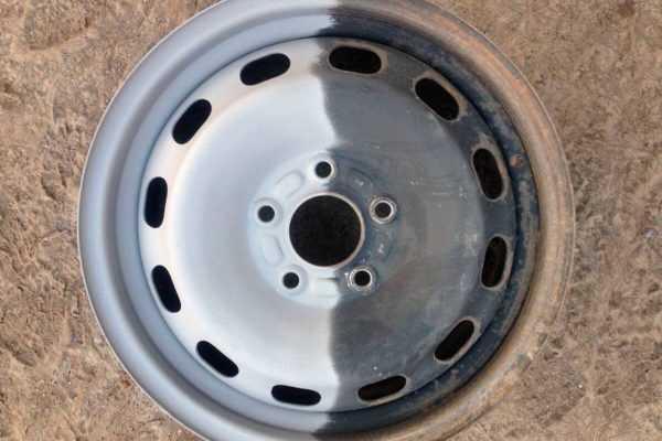 Глубокая очистка колесного диска