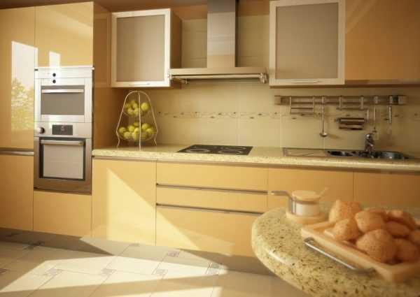 Цвет хорошо подходит для оформления кухни