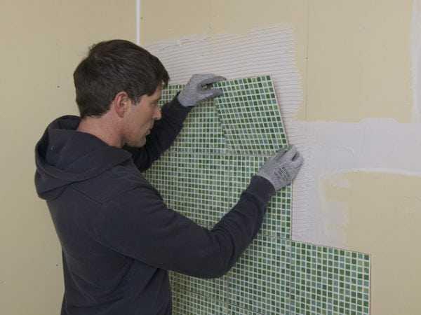 Укладка плитки на гипсокартонный лист