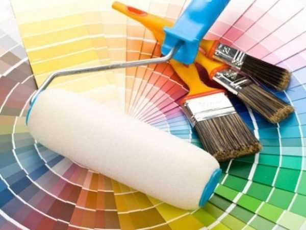 Выбор тона краски для обоев