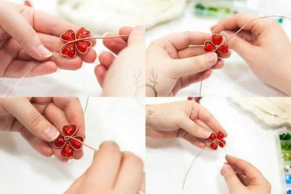 Изготовление цветка из проволоки