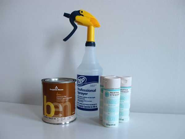 Подготовка краски и распылителя
