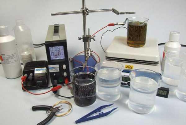 Подготовка рабочего места для покрытия деталей хромом