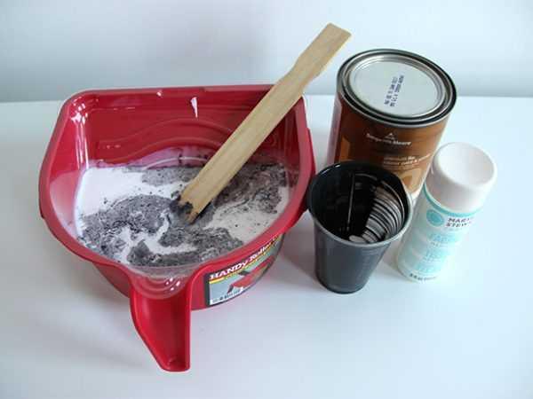 Подготовка состава для покраски