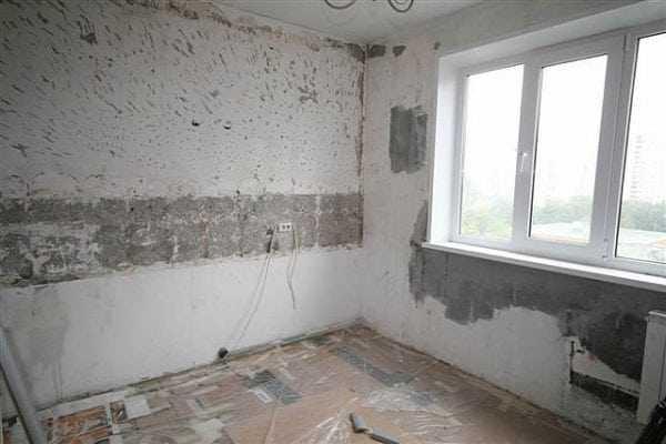 Подготовка стен в квартире под монтаж утеплителя