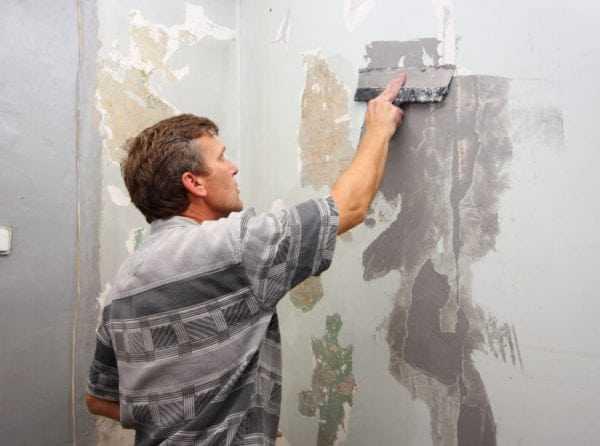 Подготовка стен под трафаретную покраску
