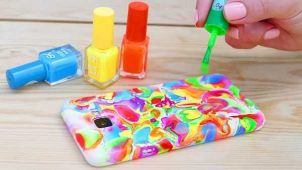 Покраска бампера лаком для ногтей