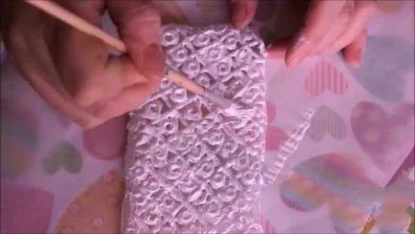 Покраска чехла из клея