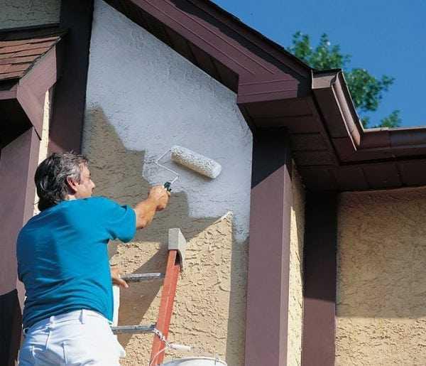 Покраска фасада износостойкой краской