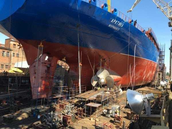 ХС-436 применяется для покраски корпусов ледоколов