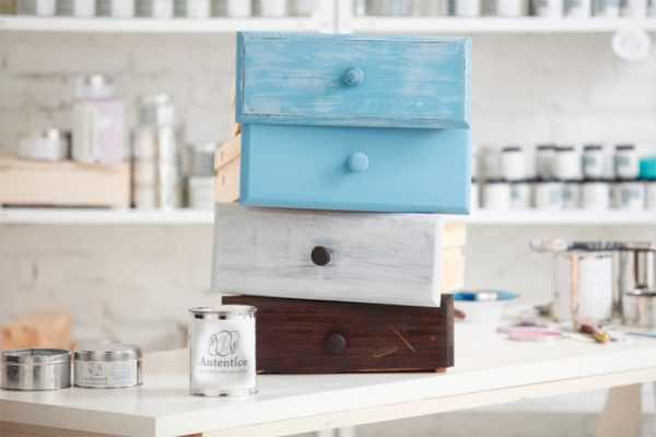 Покраска мебели меловой краской