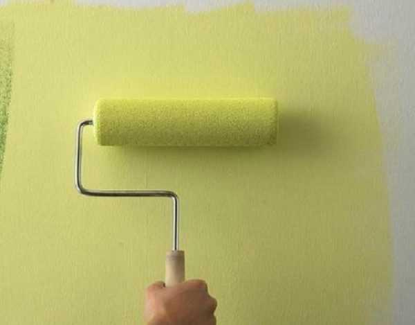 Нанесение краски непосредственно на наклеенный материал
