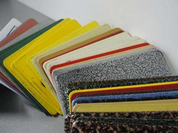 Образцы полимерного покрытия